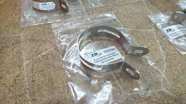 Exhaust band / silencer clamp 80 mm universal TD-Customs