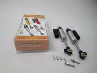 Shock absorber Lambretta Targaline with reservoir - silver